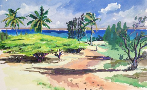 happy-bay-st-martin-caribbean-art-painting