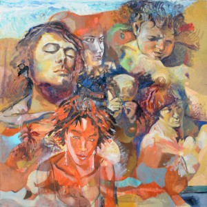 etude-Lamazou-Courbet-Caravage-120x120cm